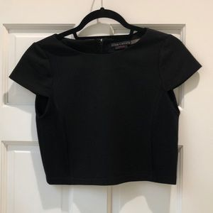 Alice + Olivia black cropped top, size XS